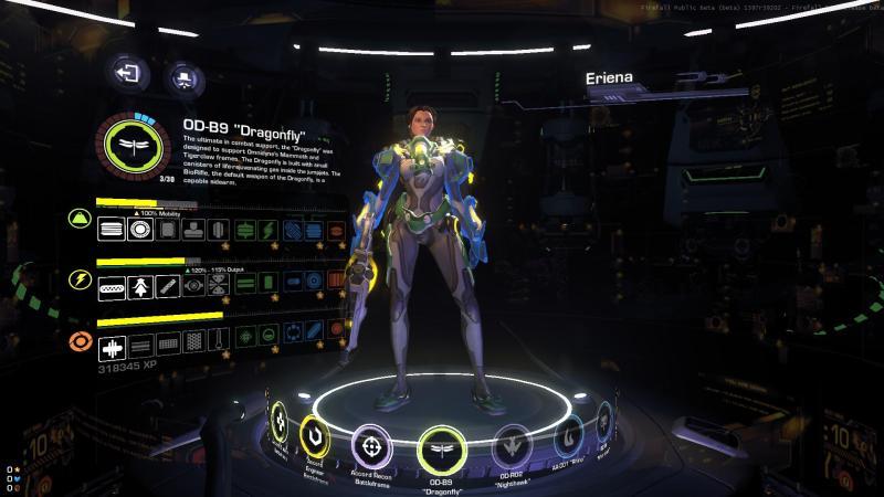 Firefall progression menu