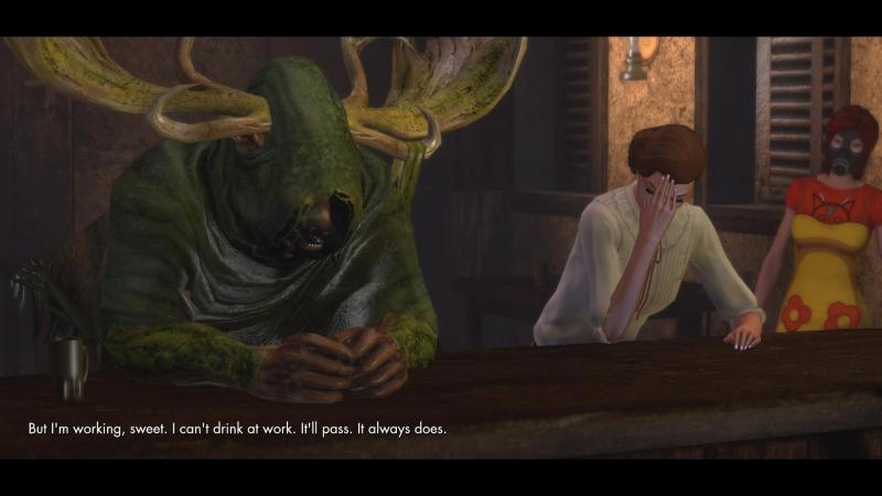 A Fairy, Forest God and Illuminati meet in a bar