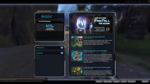 Firefall menu