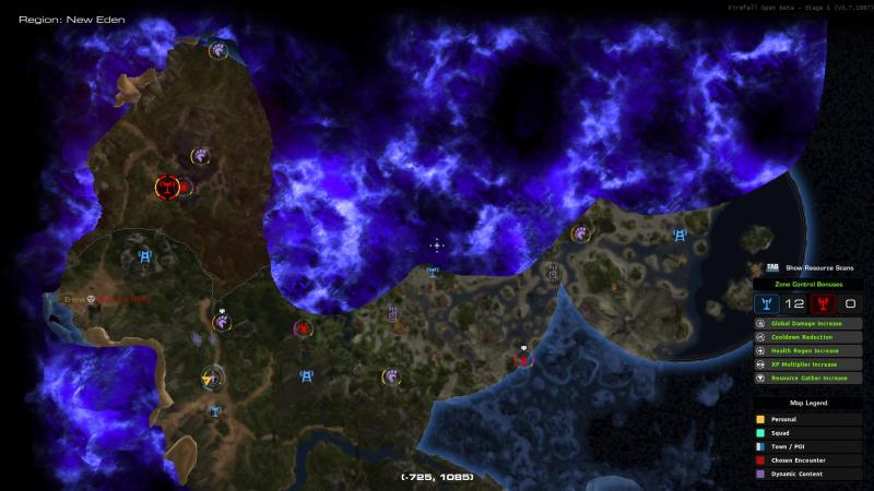 Firefall chosen map