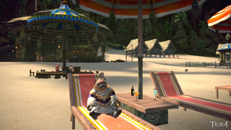 Mayor of Catburgh relaxing on the beach