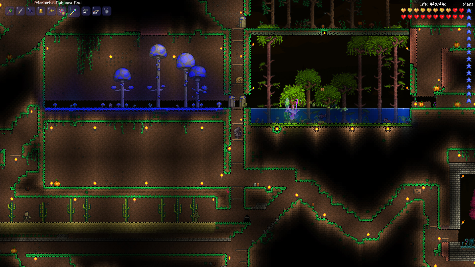 The Terraria Times Corruption Control And Battling Bosess Healing Wiring Guide Biomes
