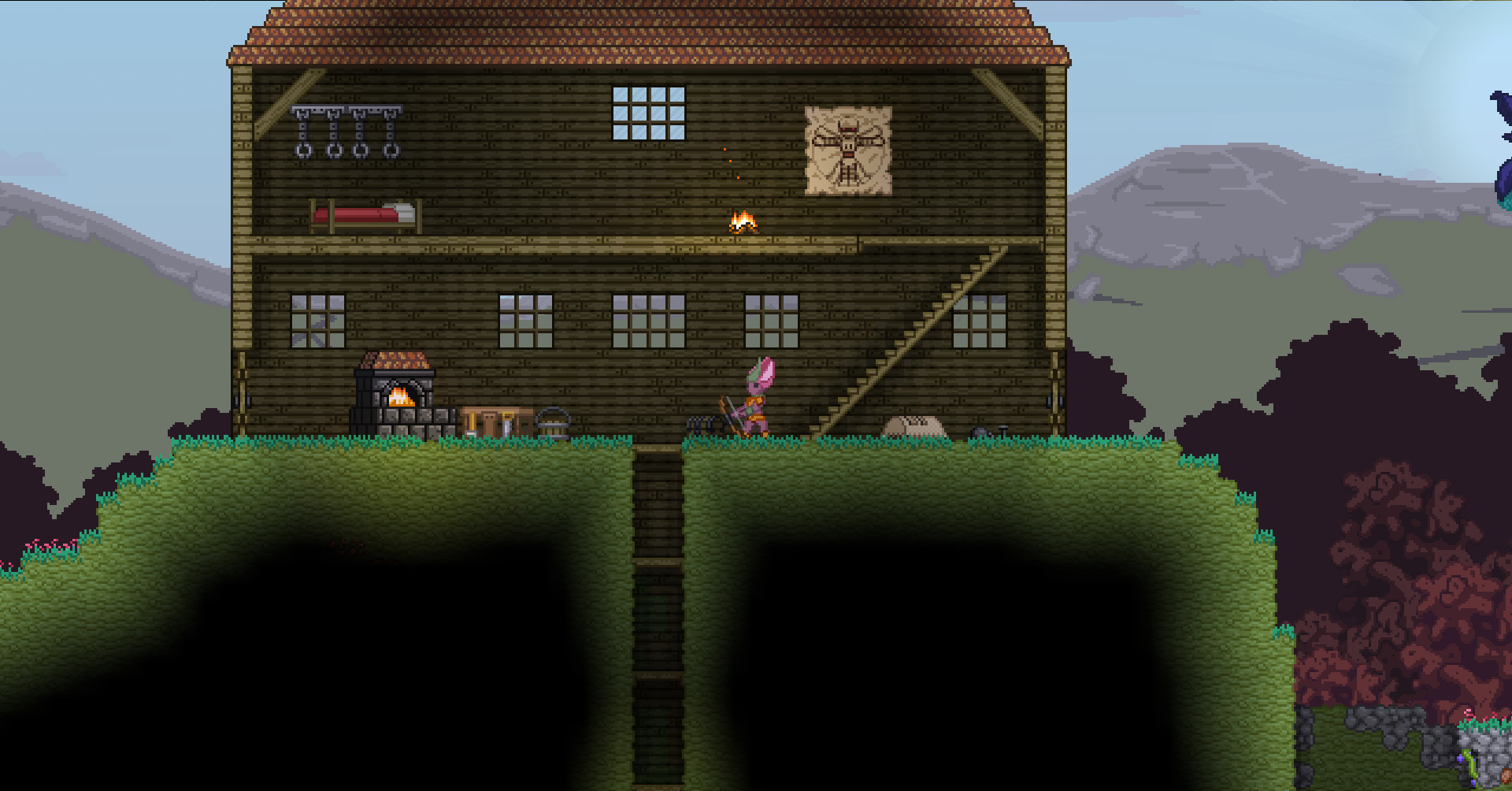 how to put a password on starbound server