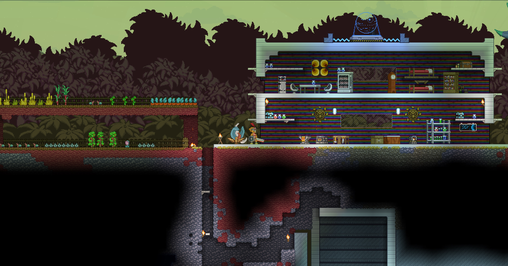 starbound how to get back to your ship