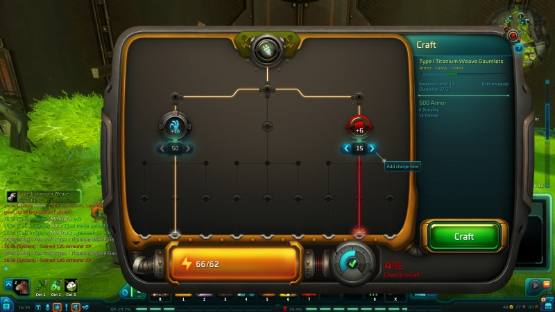 WildStar armor crafting
