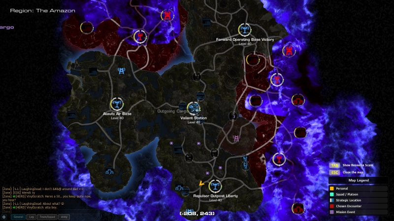 Firefall amazon map